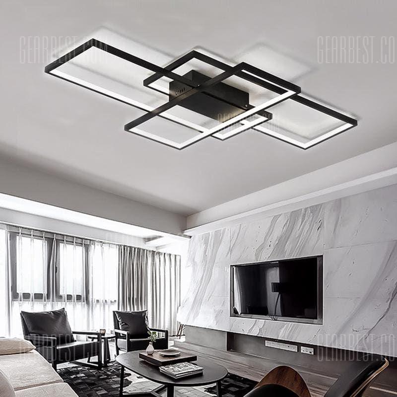 Lyustra In 2020 Living Room Lighting Bedroom Ceiling Light Modern Black Lighting