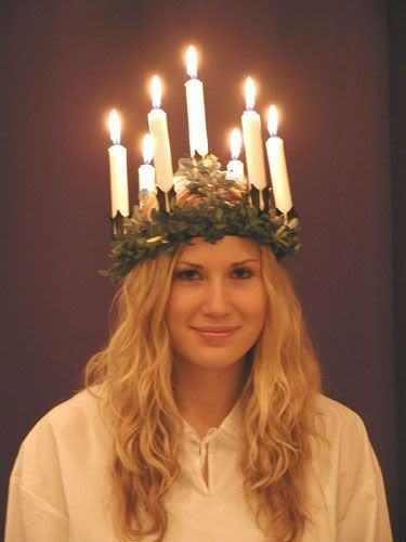 Saint Lucia's tradition in Sweden, celebrated every Dec. 13 ...
