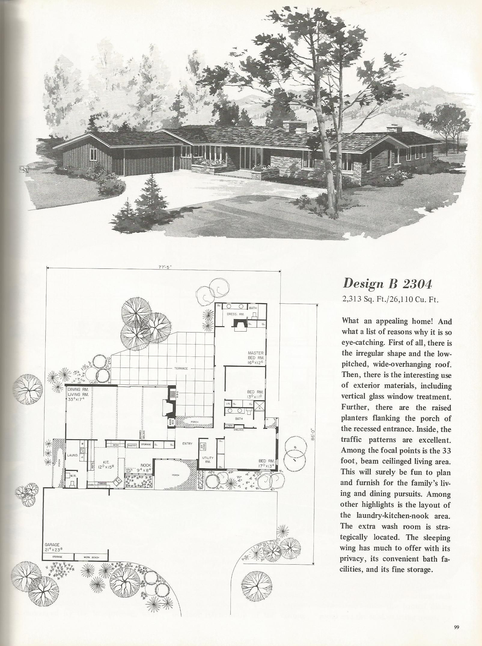 Vintage House Plans: Luxurious One Story Homes | Vintage ...