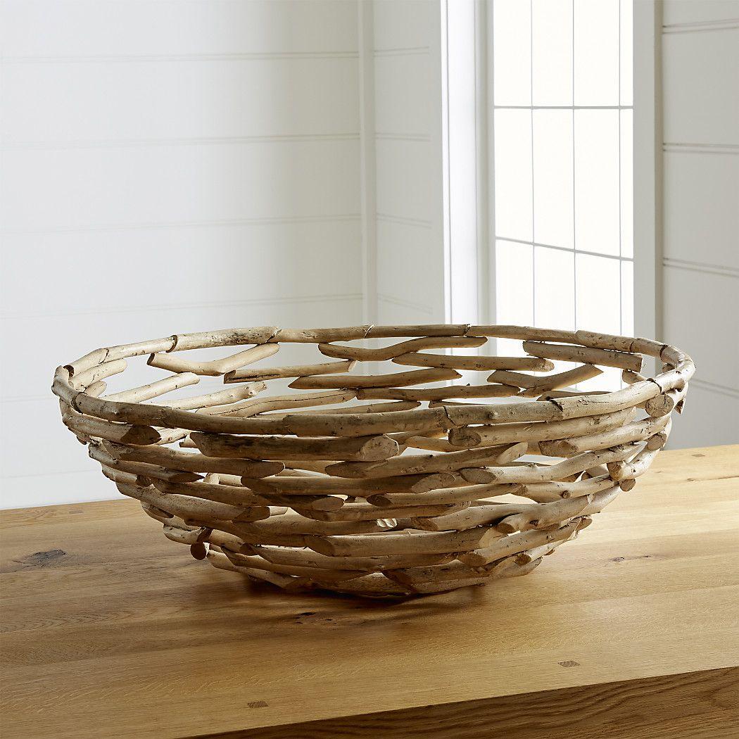 driftwood bowl coastal decor and tips decorative bowls rh pinterest com