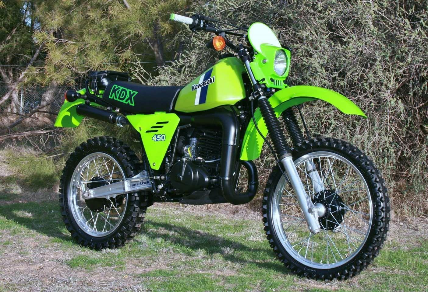 Kawasaki Kdx450 Enduro Motorcycle Vintage Motocross Vintage Bikes