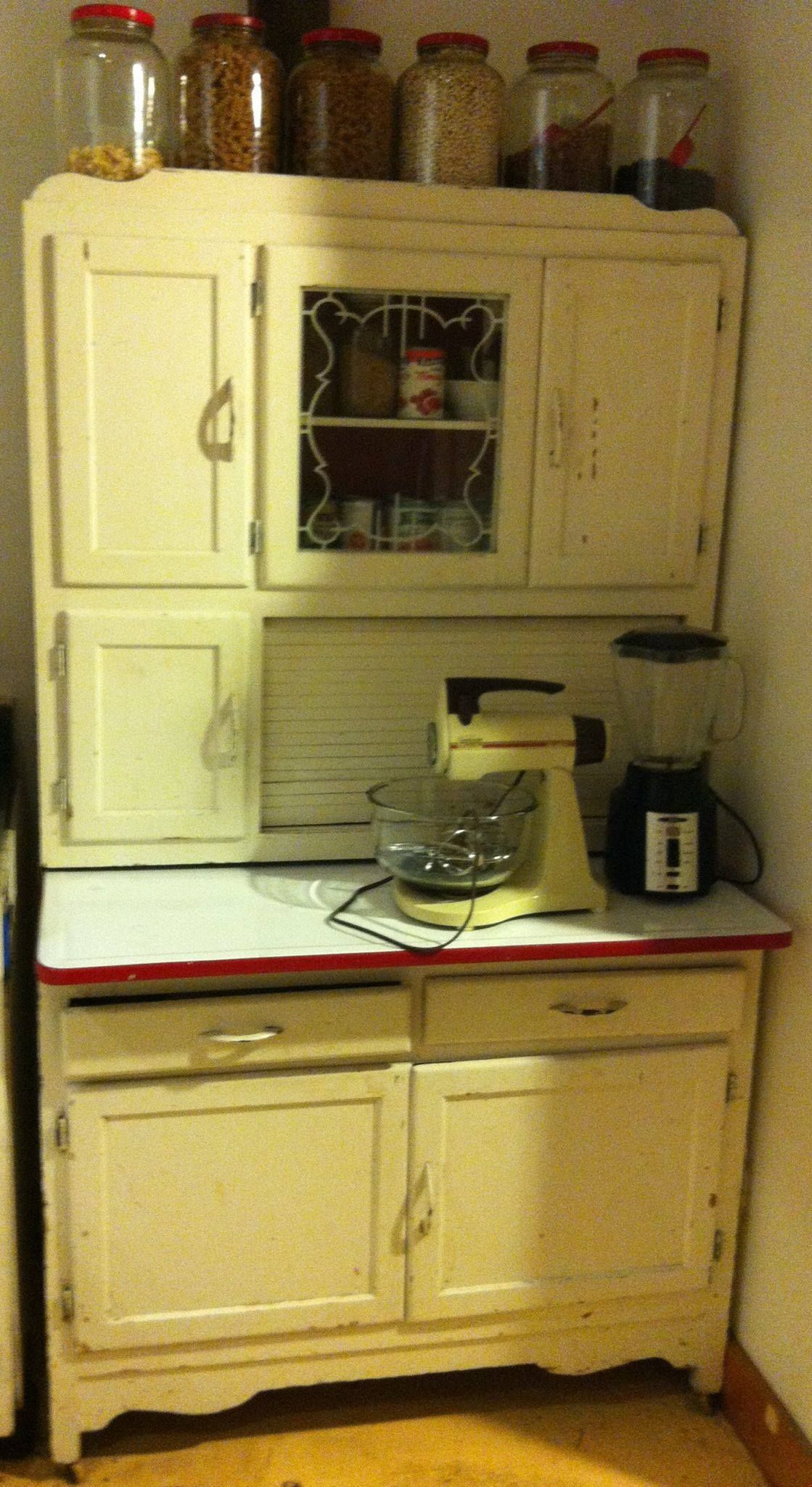 Vintage Kitchen Hutch Placement Of Cabinet Knobs And Pulls My Hoosier It Originally Belonged To Great