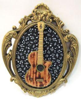 Ateliê Le Mimo: QUADROS E PLACAS  Quadrinho violão