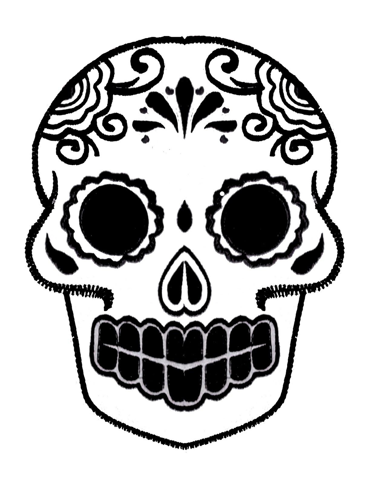Different but cool pumpkin carvings dia de los muertos for Day of the dead skull mask template