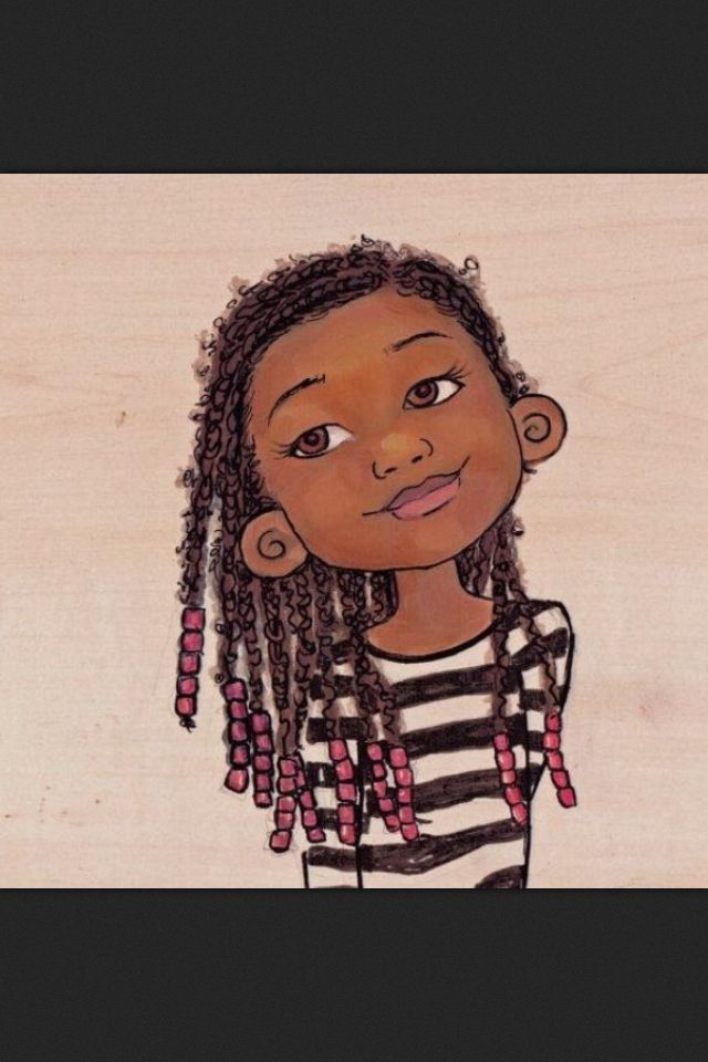 Animated Black Girl Black Women Art Natural Hair Art Black Art
