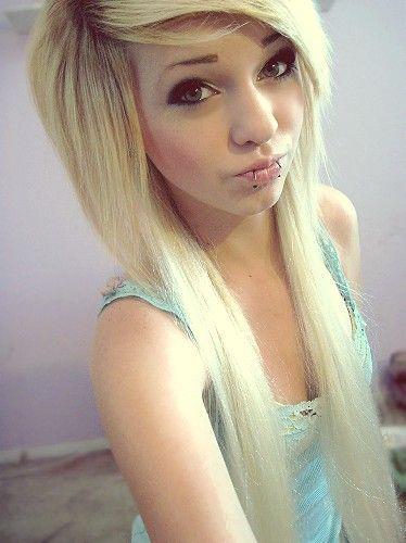 Platinum Blonde Emo Hair