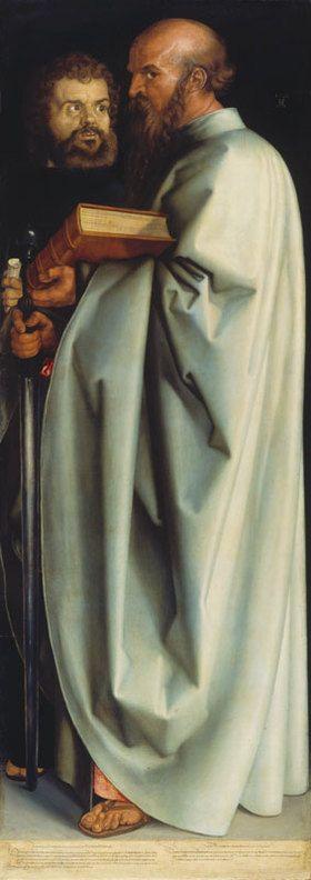 die apostel paulus und markus rechte tafel die vier apostel von albrecht durer kunstdruck bildergipfel de albrecht durer albrecht durer art history pinterest