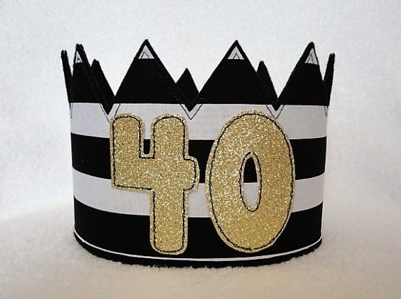 40th Birthday Crown Hat Gold By MnMExtras