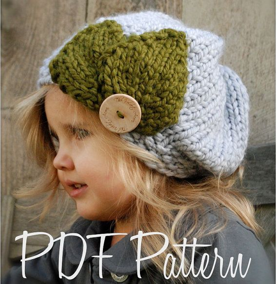 Knitted Beret Pattern Toddler : KNITTING PATTERN-Olivia Beret (Toddler, Child, Adult sizes) Berets, Knittin...