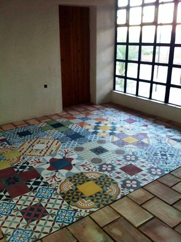Idea suelo de cocina: suelo de baldosa cemento hidráulico diseño ...