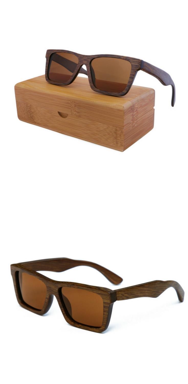 f5ad8d3820e Cool men s sunglasses made from premium dark bamboo