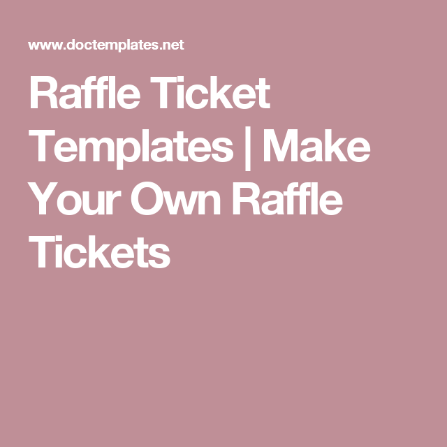 make your own event tickets free
