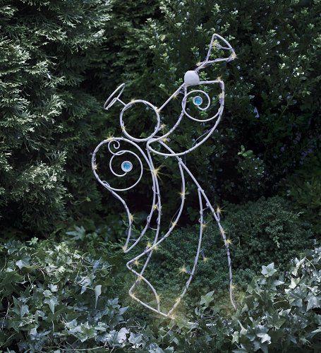 Angels Lighted Yard Displays Decoracion Con Luces Navidenas Jardin De Navidad Decoracion En Hierro