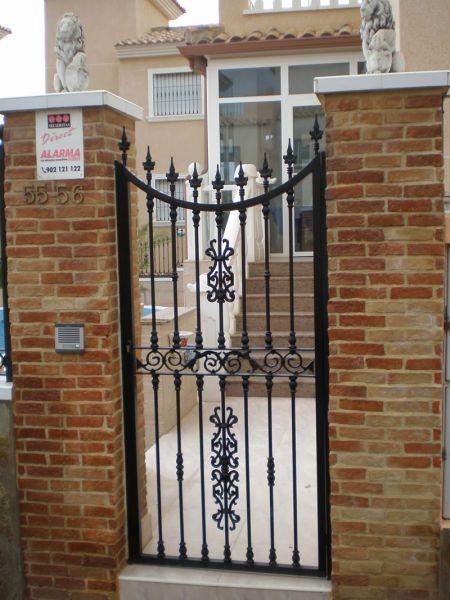 Metal v carpinter a met lica hierro aluminio acero - Puertas metalicas jardin ...
