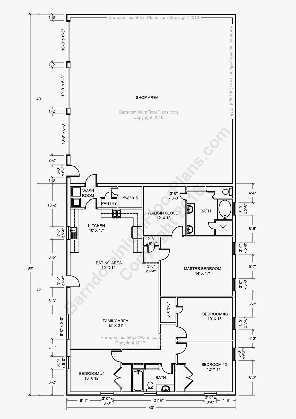 17 Interesting Modern Barndominium Floor Plan To Transform Your Floor Plan Barndominium Floor Plans Metal House Plans Pole Barn House Plans