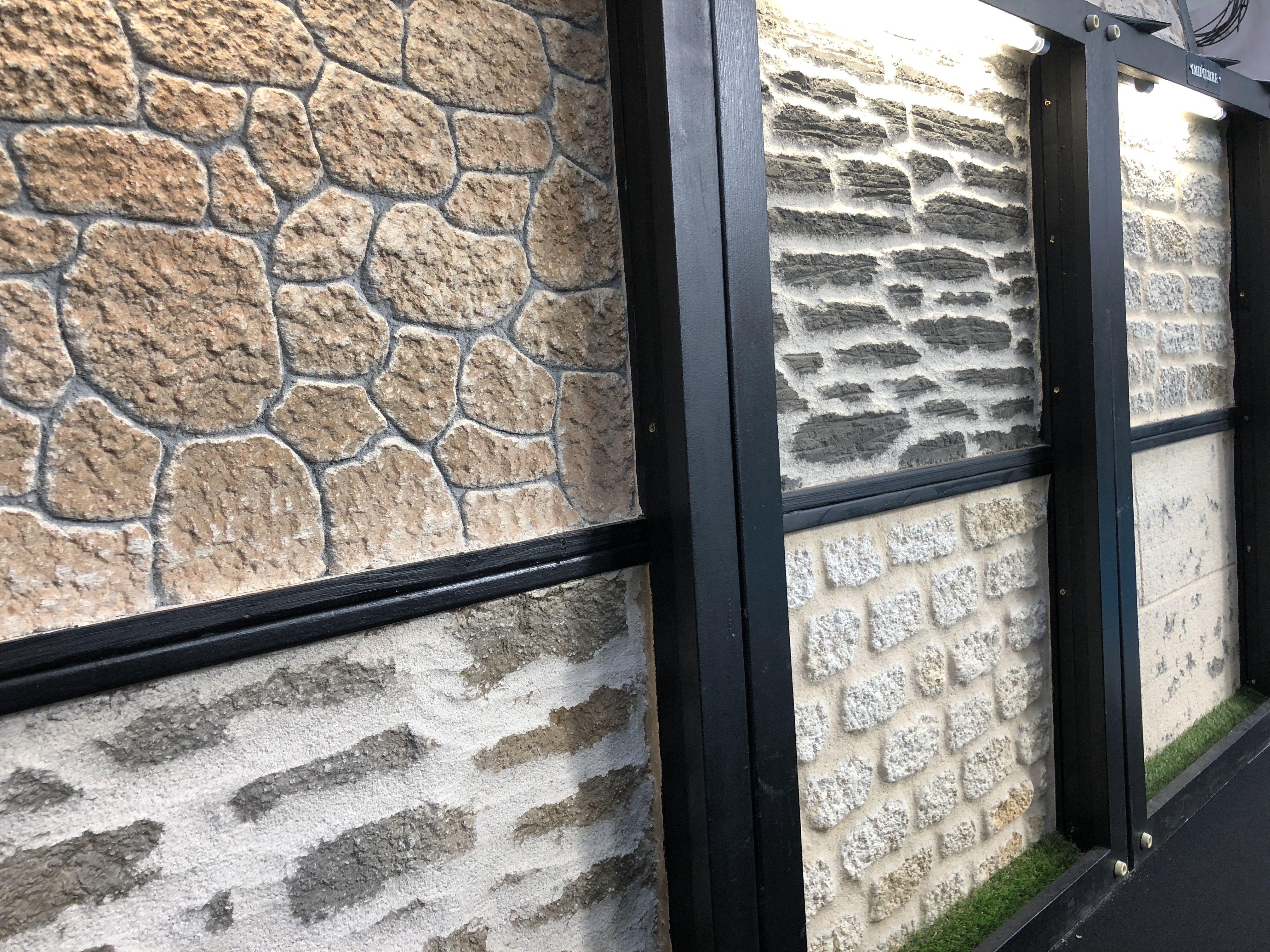 Quelques Exemples D Enduit Faconpierre De La Societe Imipierre Qui Intervient Pour Vous Sur Le Grand Oues Peinture Facade Maison Facade Maison Architecture