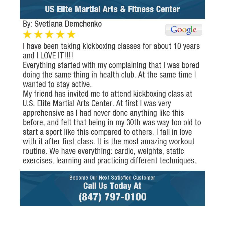 I have been taking kickboxing classes for about 10 years