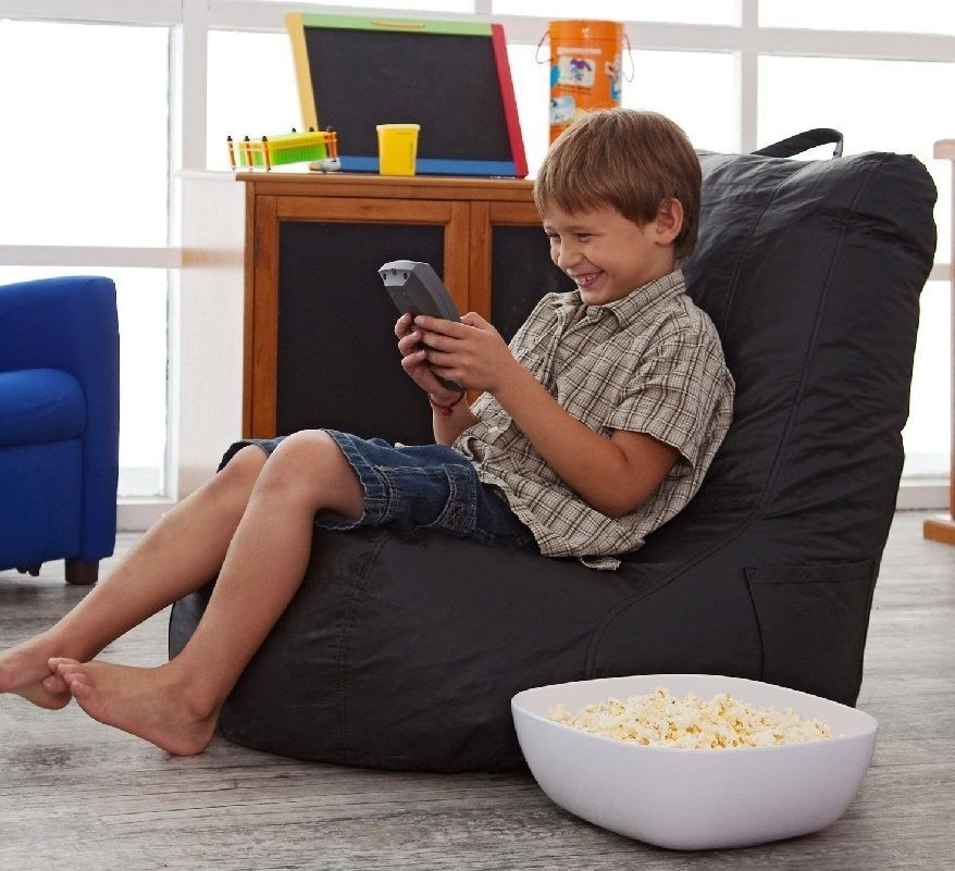 Kids Bean Bag Video Gaming Chair Boys Girls Bed Room Movie Reading