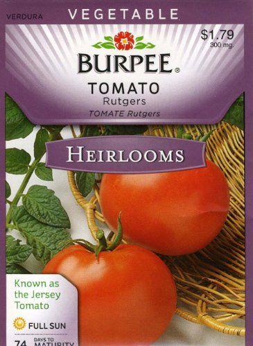 burpee tomato rutgers red slicer 25 heirloom seeds davidu0027s garden seeds http