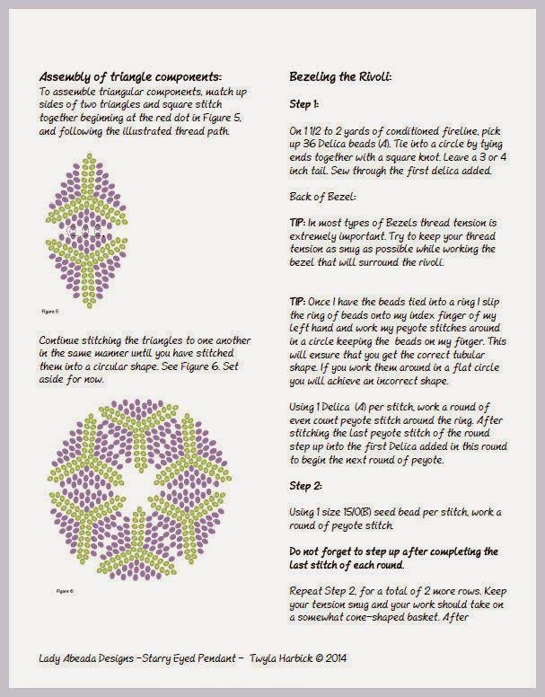 Bead Mavens: Tutorial Starry Eyed Pendant ~ Twyla(Page 4 of 6)