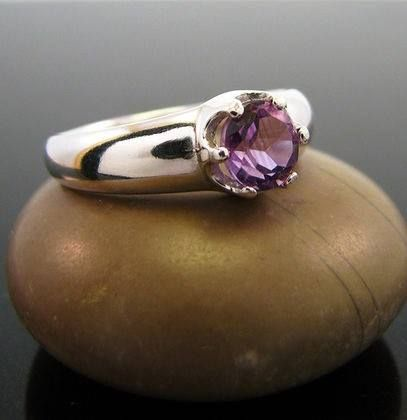 Silver ring with natural amethyst Sold by Jewellry 118,00 $