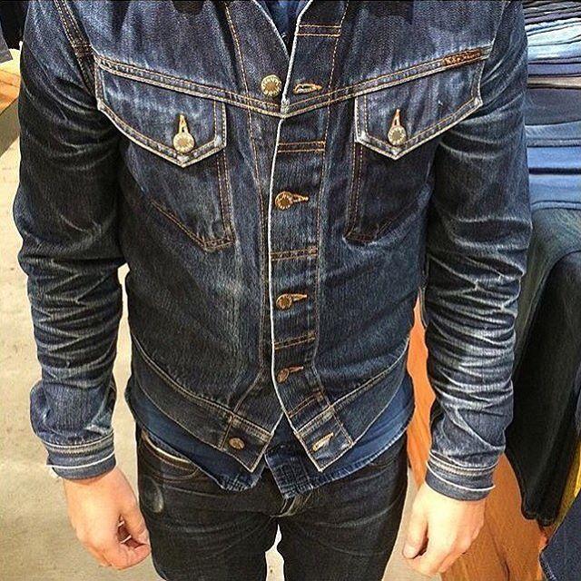 b57a0e46a660 Dark Denim · Beautiful worn in Nudie Connie denimjacket #regram  @bluerootsofficial #nudie #nudiejeans #denimjacket