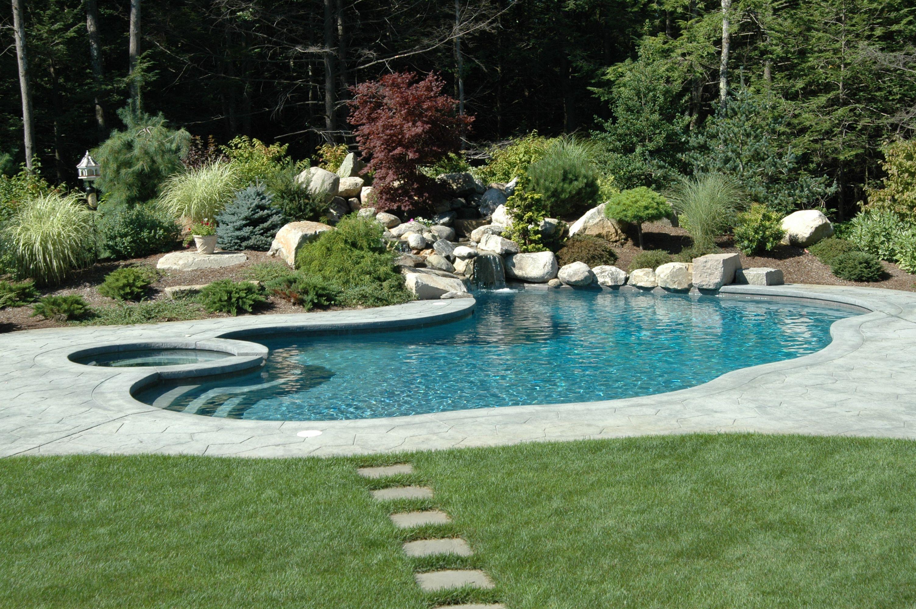 Seoane Landscape Design Abington Massachusetts Inground Pool Landscaping Backyard Pool Landscaping Pools Backyard Inground