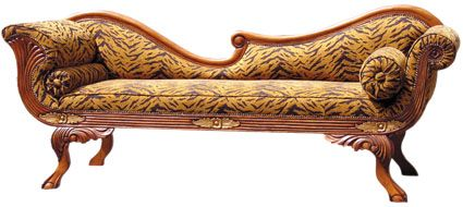 Antique Wooden Hand Carved Chaise Lounge Classical Lazy Chair