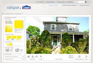 valspar s online color visualizer virtual painter house on lowe s paint visualizer valspar paints id=73102