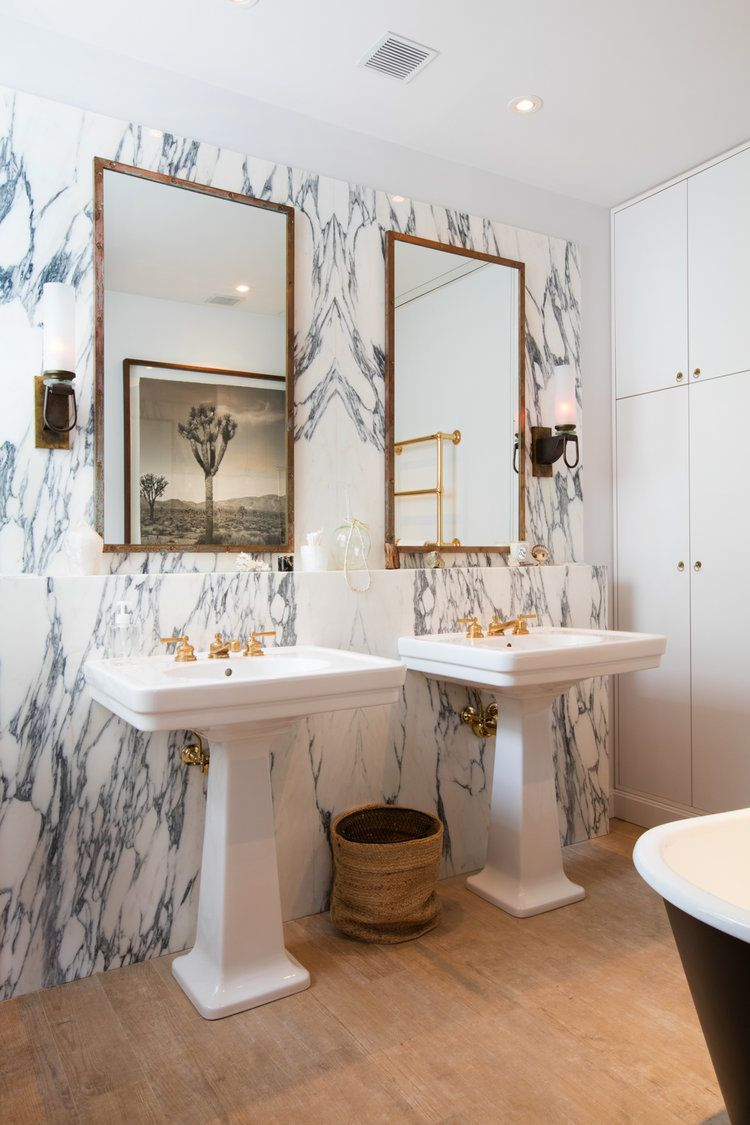 this marble wall tile is pure glam | jeremiah brent | bathrooms