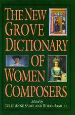The New Grove Dictionary of Women Composers (Grove Composer) Book