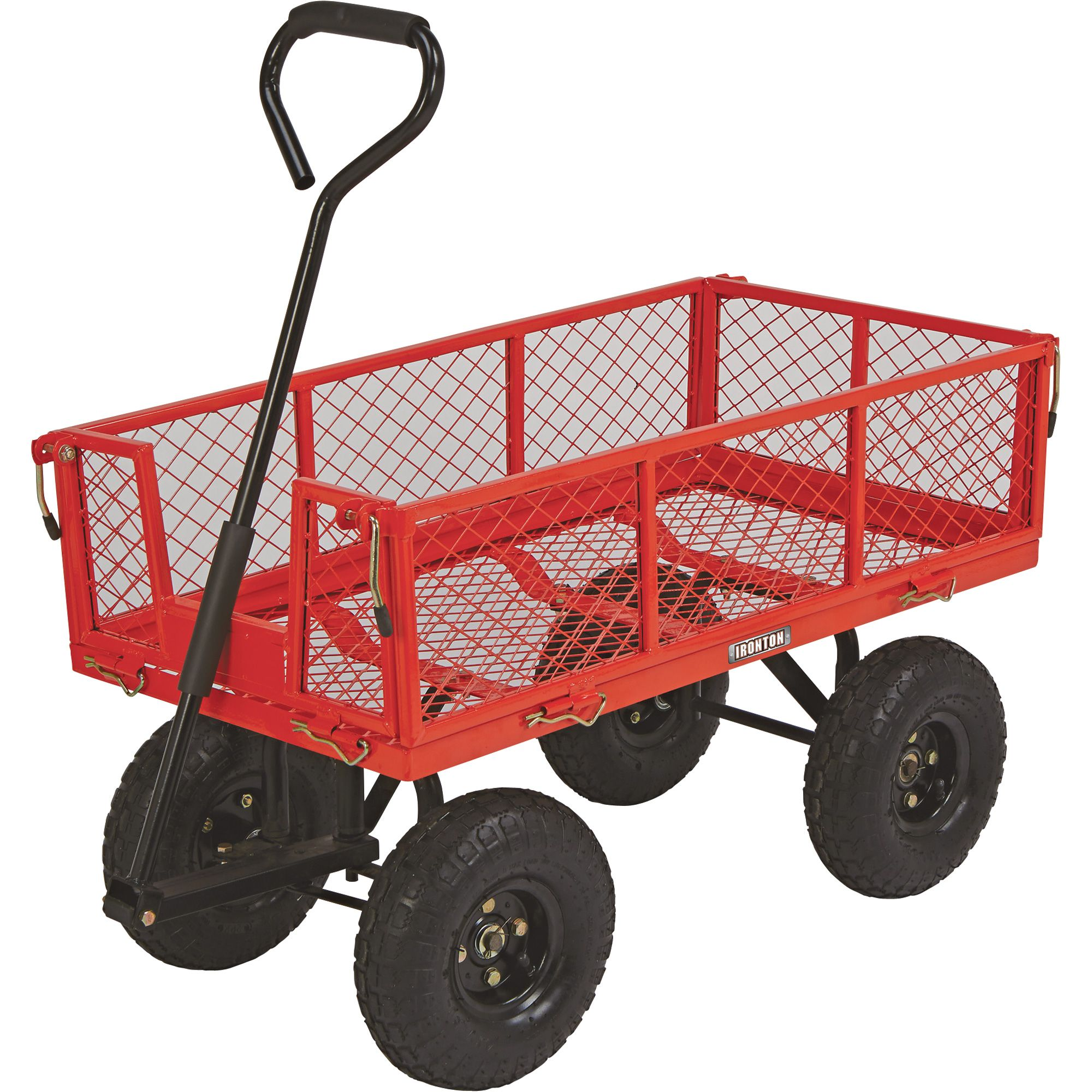 Perfect This Heavy Duty Ironton® Steel Garden Wagon Is Perfect For Hauling Garden  Supplies, Firewood And More. Features A Steel Mesh Deck With Folding  Removable ...
