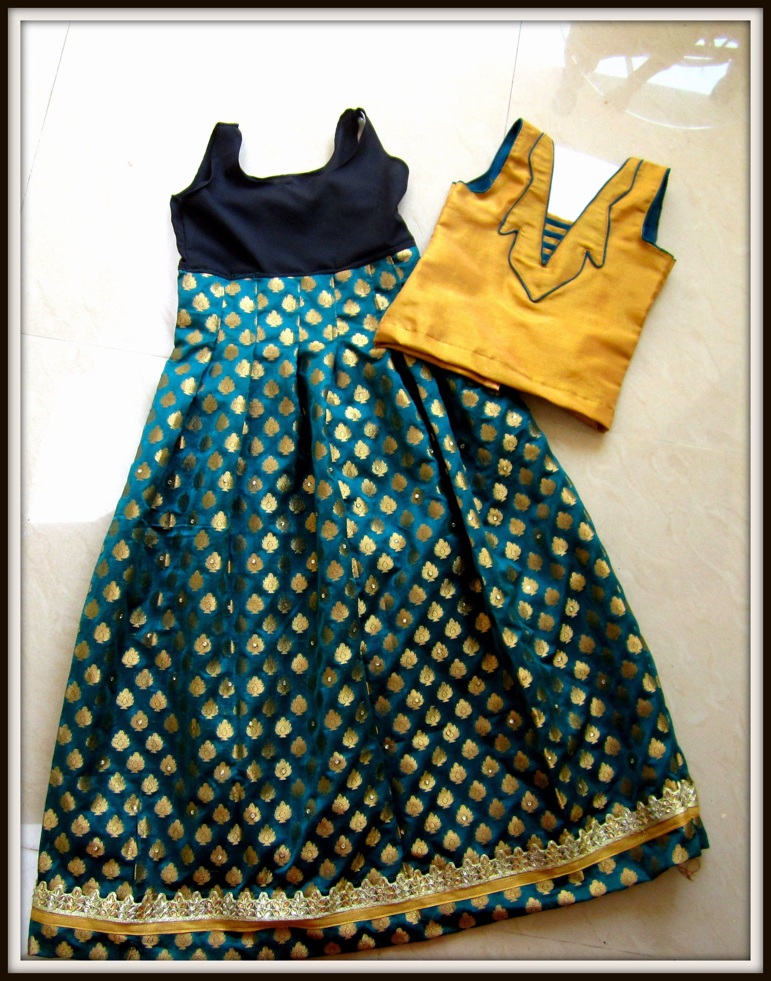 99ec221d88 LEHENGA - DESIGNING, CUTTING AND SEWING ( PLEATED LONG SKIRT) South Indi.