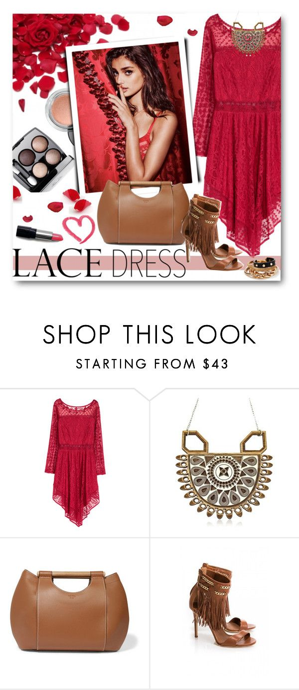 """66. Lace Dress"" by milva-bg ❤ liked on Polyvore featuring H&M, Chanel, Anisha Parmar London, Tory Burch and GUESS"