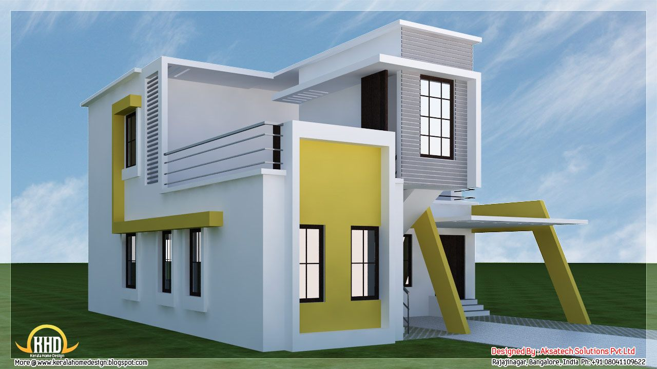 Contemporary tiny house plans beautiful modern for 3d elevation house plan
