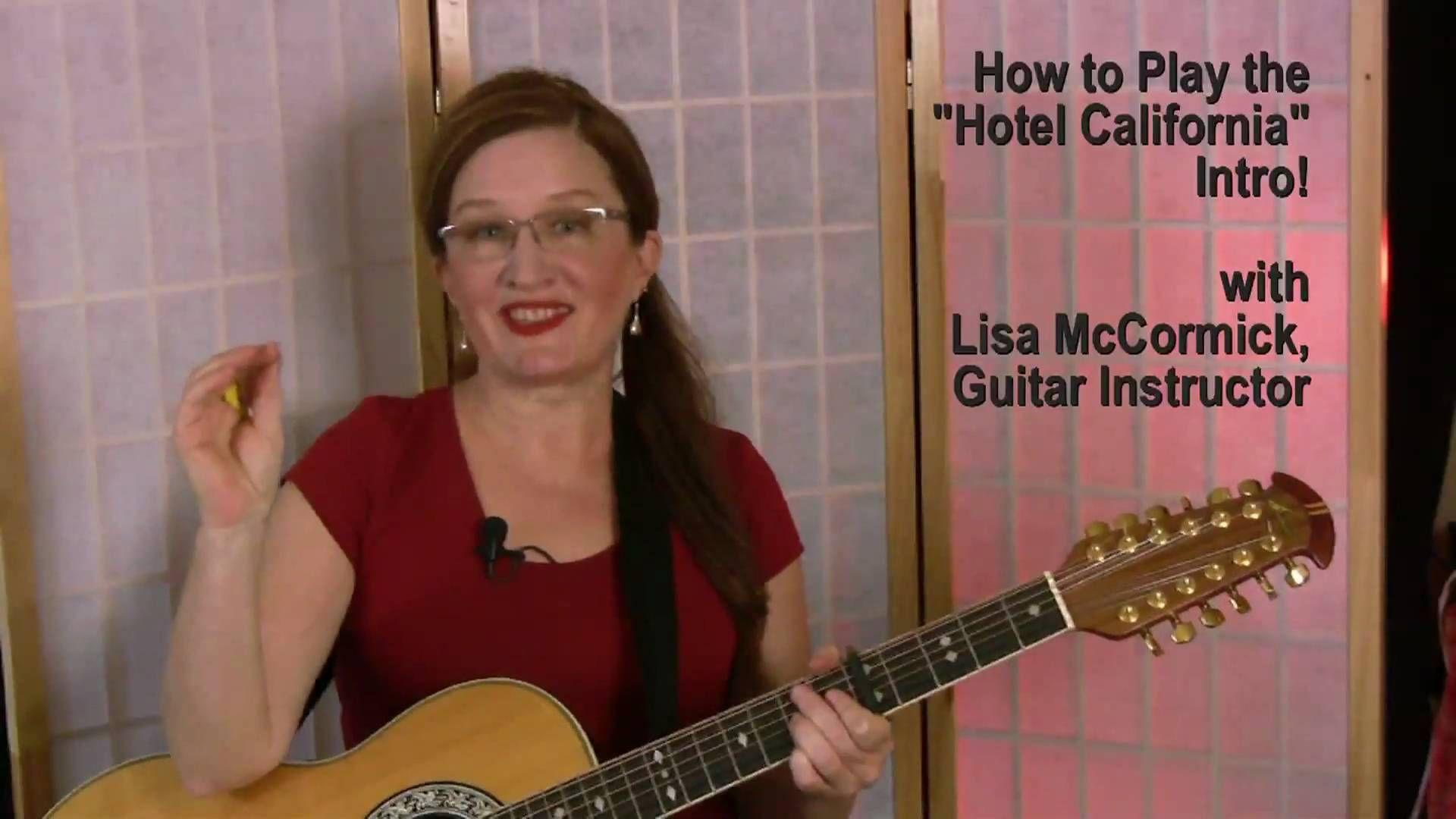 Hotel California Free Guitar Lesson Music Pinterest Free