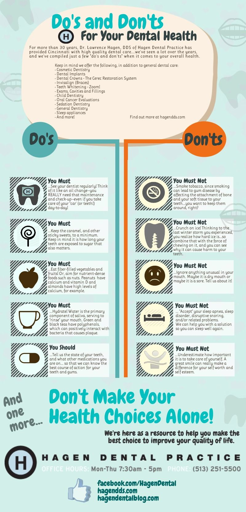 Awesome infographic dental health dental care for kids