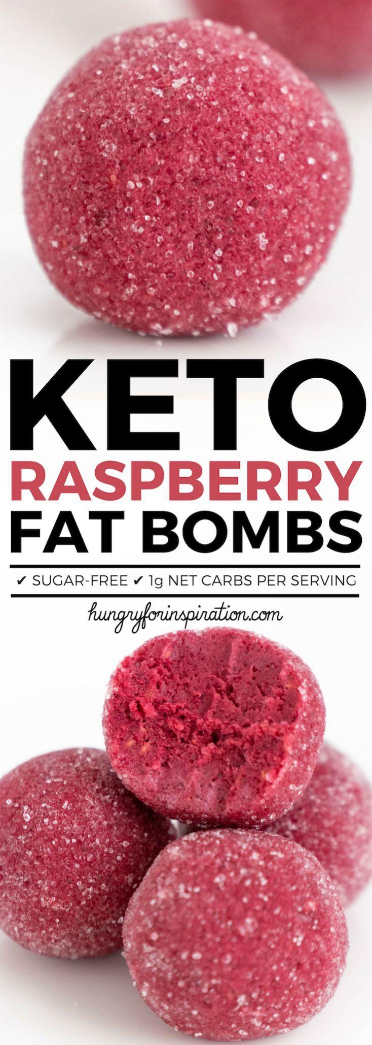 Healthy Raspberry Keto Fat Bombs (Easy Keto Snacks Or Keto Dessert) #ketodesserts