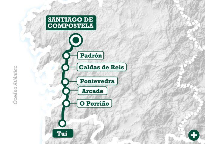 El Camino Portugués A Pie De Tui A Santiago Santiago De Compostela Santiago Camino De Santiago