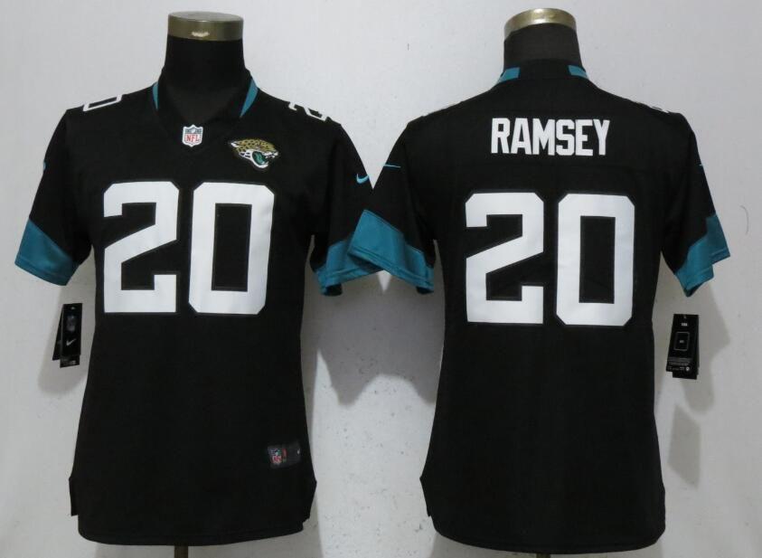 d534061b Women Jacksonville Jaguars 20 Ramsey Black Vapor Untouchable Elite ...