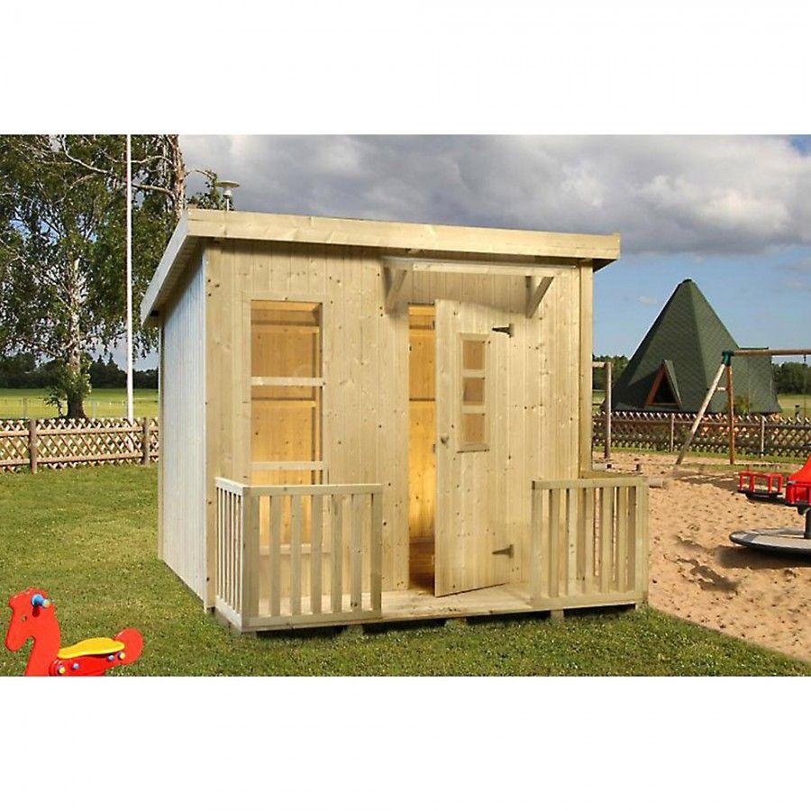 Spielhaus Lars aus Holz 199x163 cm Holzhaus für Kinder mit