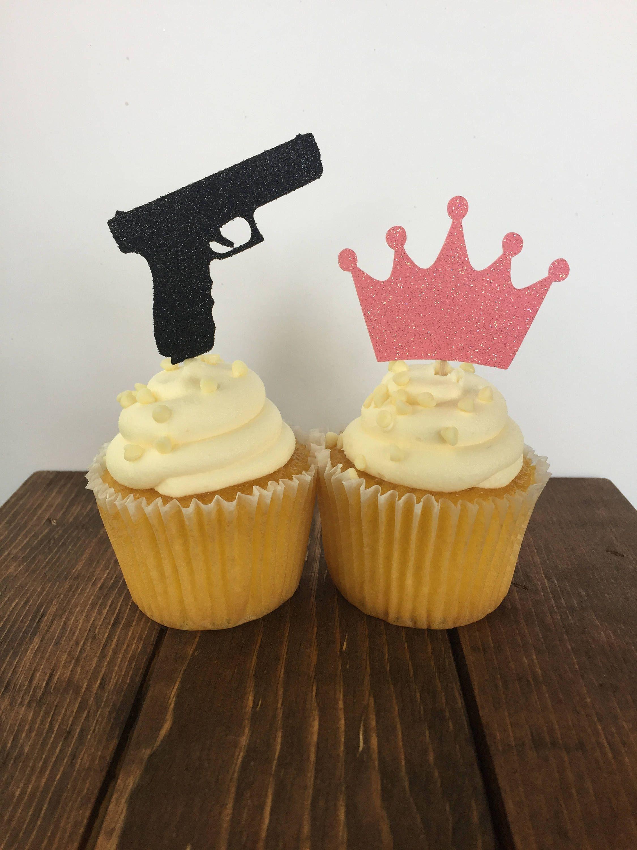 Guns Or Glitter Gender Reveal Guns Or Glitter Cupcake Topper Gender Reveal Cupcake Topper Gender Reveal Cupcakes Glitter Gender Reveal Gender Reveal Shower
