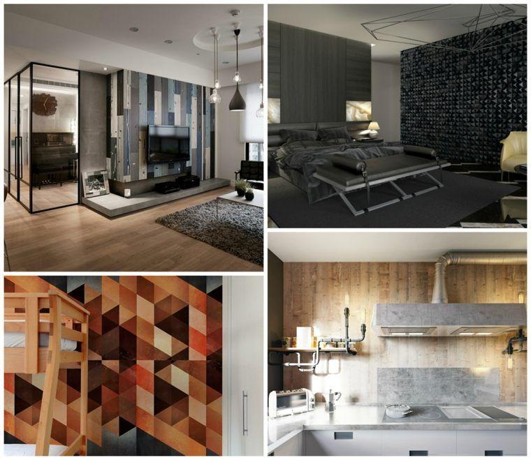 inspirierende dekorationsideen fur modernen bodenbelag, moderne akzentwanddekoration in 25 inspirierenden ideen | dekoration, Design ideen
