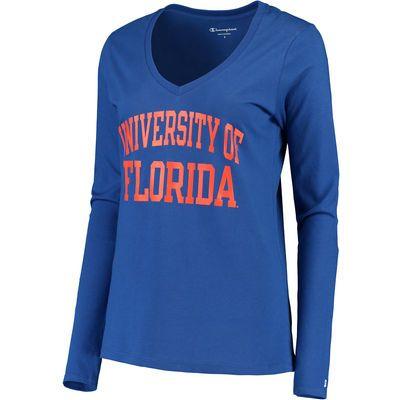 3fb0f5e78aa Women s Champion Royal Florida Gators University Long Sleeve V-Neck T-Shirt