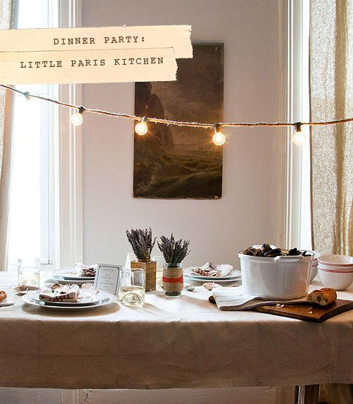 Have A Dinner Party, Invite People Over For Food · Paris DinnerThemed ...