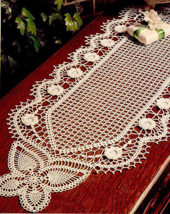 Camino de mesa en crochet patron - Imagui | caminos de mesa a ...
