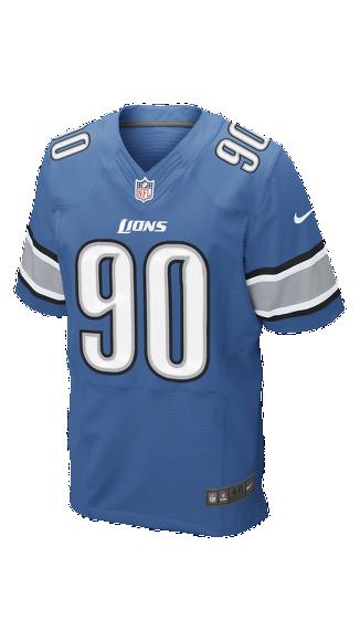 fa5358d3f Nike NFL Detroit Lions (Ndamukong Suh) Men s Football Home Elite Jersey