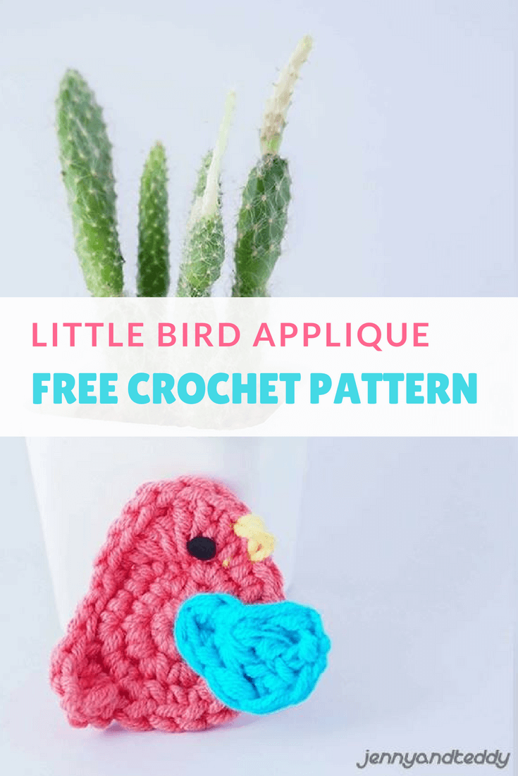 Little bird applique free crochet pattern | Crochet | Pinterest
