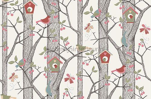 Bomen, vogels, vlinders behang 2652 Vlinders - Vogels BN Wallcoverings