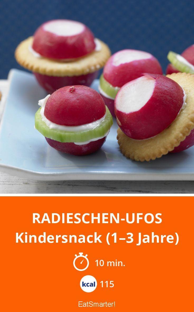 Radieschen-Ufos - Kindersnack (1–3 Jahre) - smarter - Kalorien: 115 kcal - Zeit: 10 Min. | eatsmarter.de
